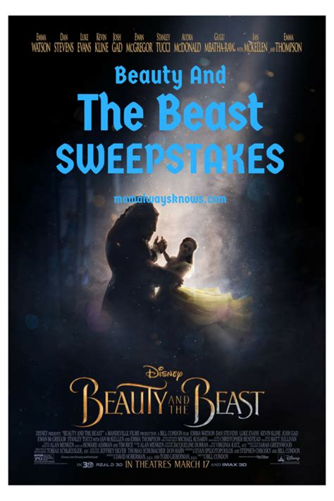 Beauty Sweepstakes And Giveaways - disney beauty and the beast sweepstakes mom always knows