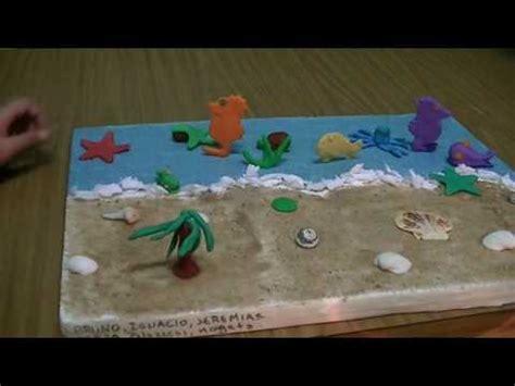 cadena alimenticia acuatica maqueta maquetas ecosistema acu 225 tico youtube