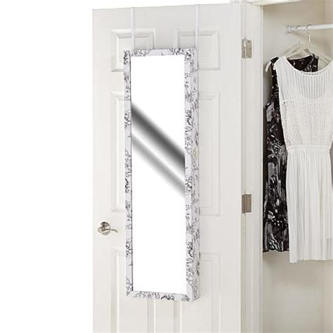 jewelry armoire over the door over the door 48 quot jewelry armoire with full length mirror 1793084 hsn