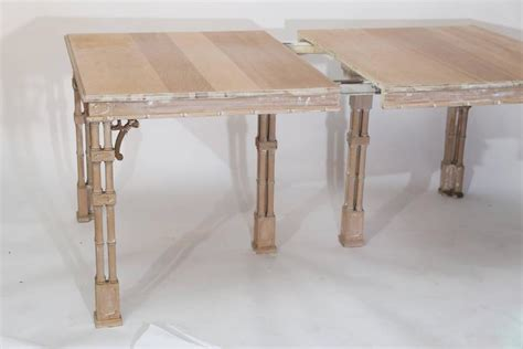 vintage stripped chippendale style dining table at