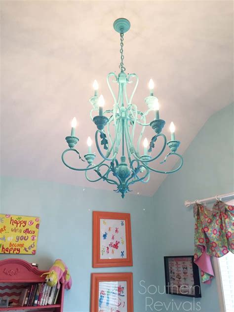kronleuchter gezeichnet painted chandelier makeover southern revivals