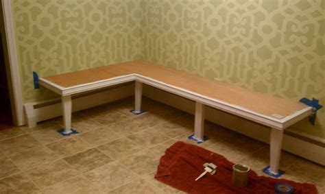 How To Make A Banquette Bench by For All Things Creative Diy Kitchen Banquette