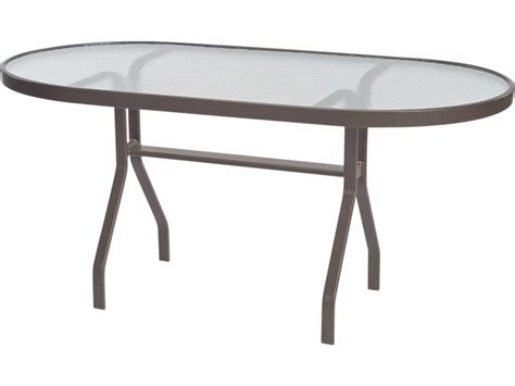 Oval Glass Top Dining Table Windward Design Glass Top Aluminum 60 X 30 Oval Dining Table Wt3060 18g