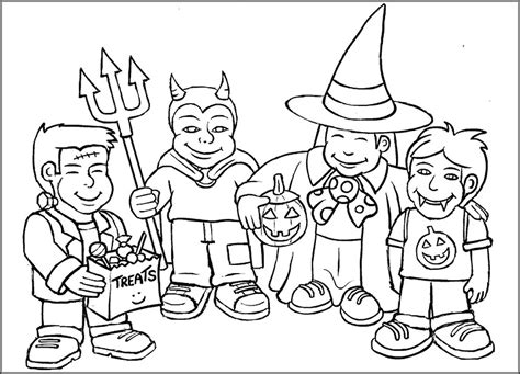 boy witch coloring page halloween colouring pages for kids free printables