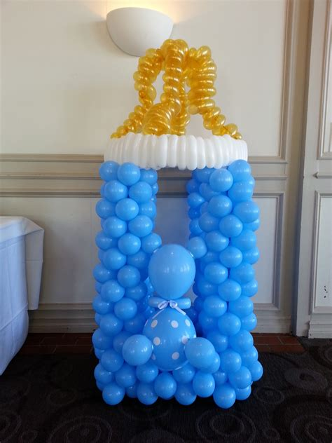 Big Baby Bottle For Baby Shower by Balloon Decorations For Baby Shower Favors Ideas