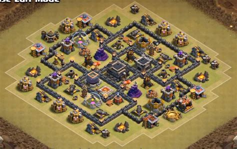 war base layout town hall level 7 level 7 town hall war base www imgkid com the image