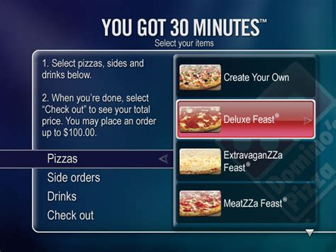domino pizza order order domino s pizza through your tivo boing boing