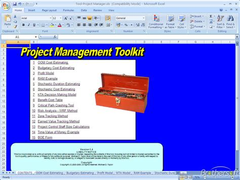 download free project management toolkit project