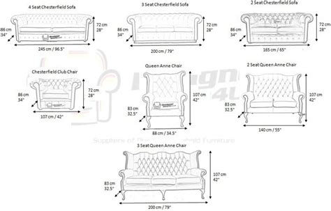 Chesterfield Sofa Dimensions Living Room Pinterest