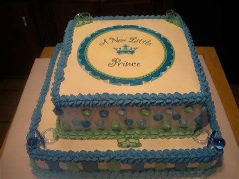 a new prince baby shower cake baby