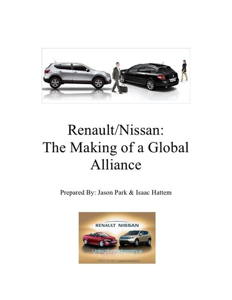 renault and nissan merger nissan renault merger