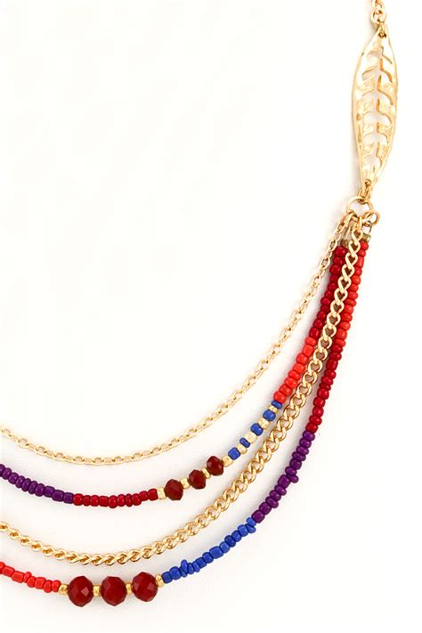 seed bead necklace layered seed bead necklace set necklaces
