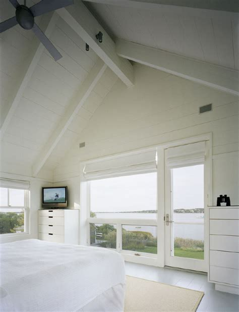 painted white wood ceilings of an architect