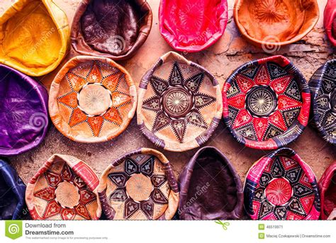 Souvenir Handmade - traditional handmade leather souvenirs stock photo image