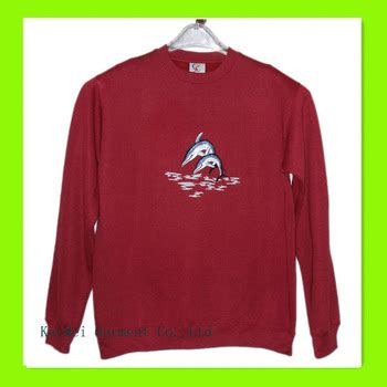 Plain Collared Coat s plain collared sweatshirts printed with fish pattern