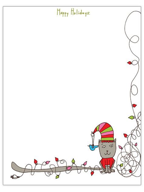 printable cat card template free letter templates templates school ideas