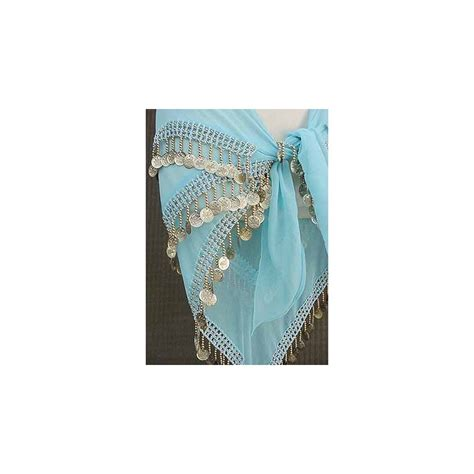 turqoise belly hip scarf 3 line made of sheer