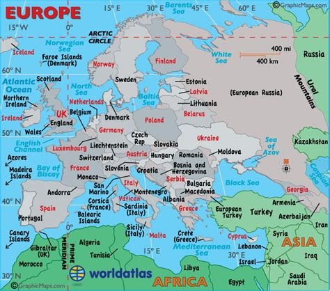 europe map map  europe facts geography history
