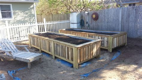 pallet raised garden bed hometalk raised bed gardens from pallets
