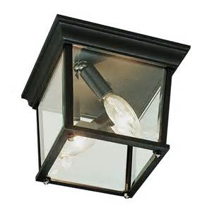 outdoor ceiling lights flush mount cubed white 9 1 4 inch wide outdoor flush mount ceiling