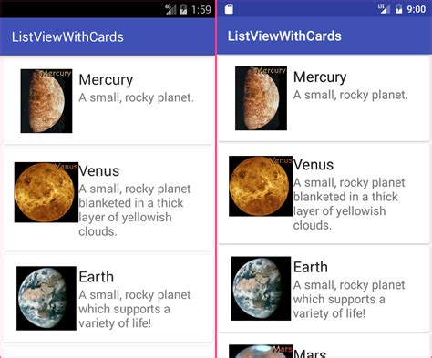card layout in android tutorial create simple card layout android stack overflow