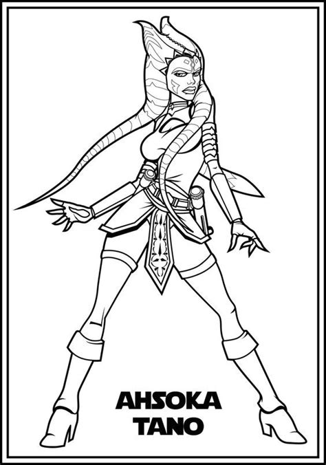 www coloring ws new ahsoka coloring pages coloring ws