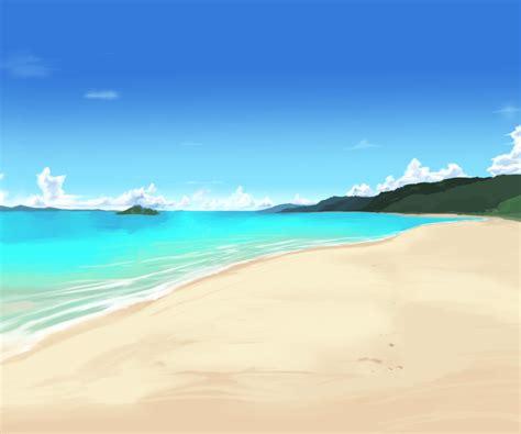 anime on beach beach background again by wbd on deviantart