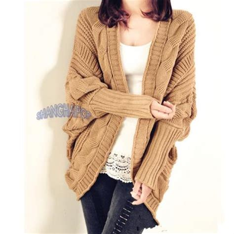 chunky cable knit cardigan sweater cable knit cardigan chunky open cape batwing