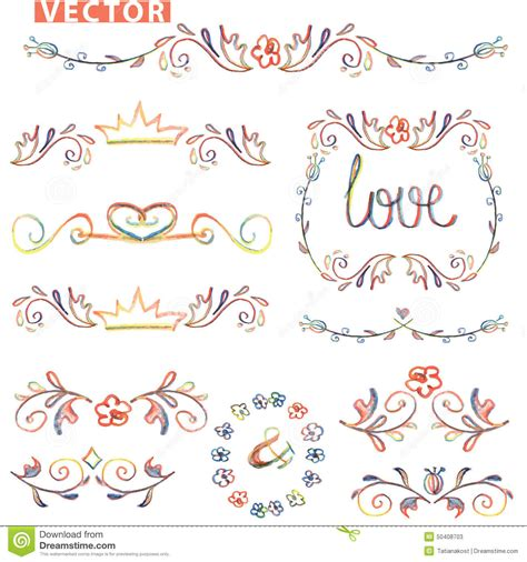 decorative drawing borders border designs for drawing vector decorative hand drawn