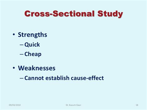 weakness of cross sectional study study design in research