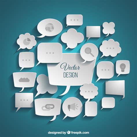 freepik com variety of business speech bubbles vector free download