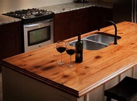 35 Kitchen Countertops Made Of Wood Ideas