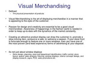 Resume Job Description by Visual Merchandising