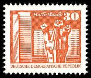 Aufkleber Drucken Halle Saale by Briefmarke Monument In Halle Saale Deutschland Ddr