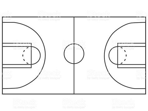 cuanto cuanto mide la cancha de basquetbol cancha de b 225 squetbol medio illustracion libre de derechos