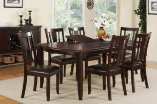 Dining Room Table Sets With Leaf Dining Table Set With Leaf Espresso Finish Huntington Furniture