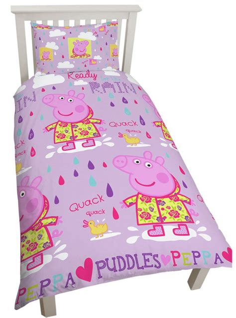 peppa pig bedding set wholesale bulk peppa pig puddles single duvet cover