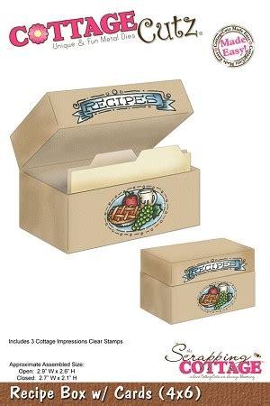 Cottage Cutz Dies Hat Box cottage cutz kitchen series 4x6 die recipe box w cards w sts