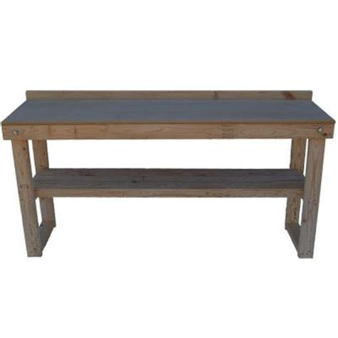 wood bench home depot fold out wood workbench common 72 in actual 20 0 in