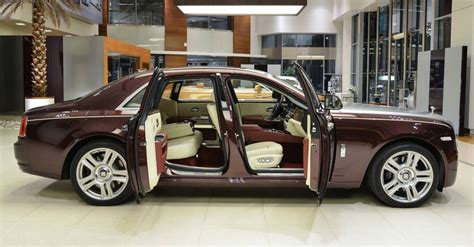 rolls royce gold and red used madeira red rolls royce ghost looks as good as new