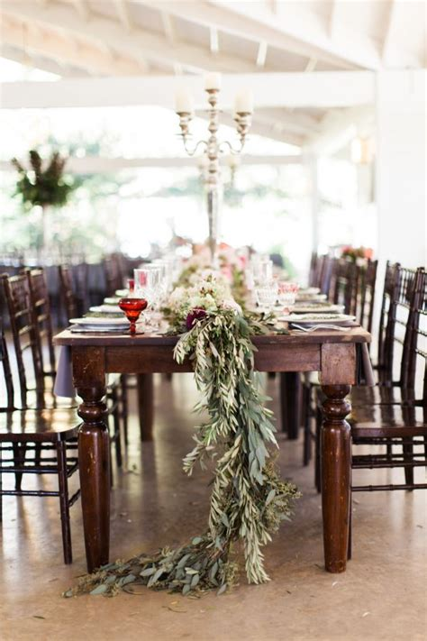 mary crowley home interiors wooden tables with garland centerpiece photography