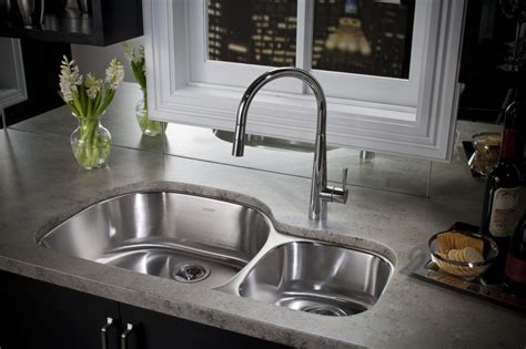undermount stainless steel sinks overmount sink elkay