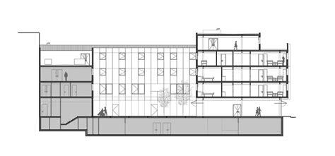 section in hospital subacute hospital of mollet mario corea arquitectura