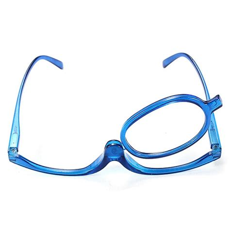 blue magnifying glasses makeup reading glass folding