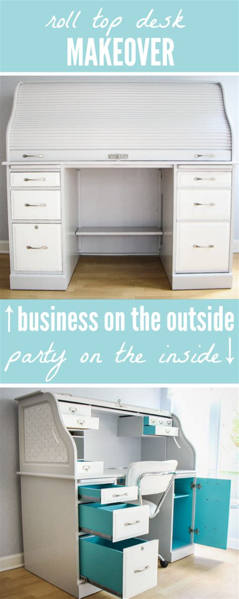 roll top desk makeover roll top desk makeover business on the outside party on
