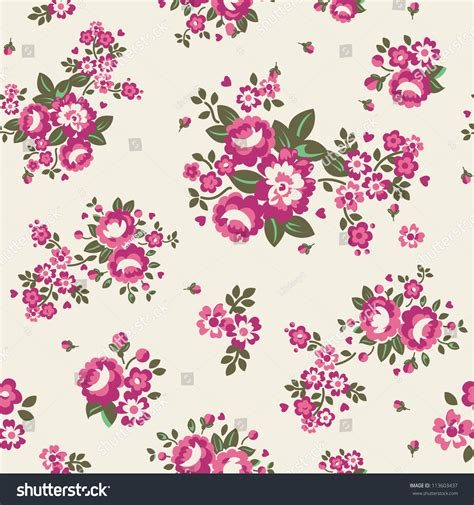 a seamless repeating retro floral large roses floral seamless pattern stock