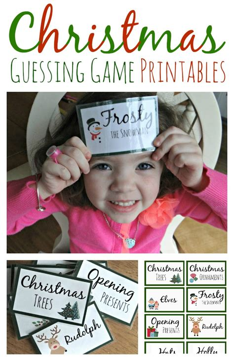 christmas guessing game printables