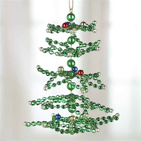 beaded christmas tree ornament christmas ornaments