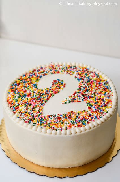 how to decorate a cake with sprinkles cake decorating i heart baking rainbow sprinkle birthday cake with