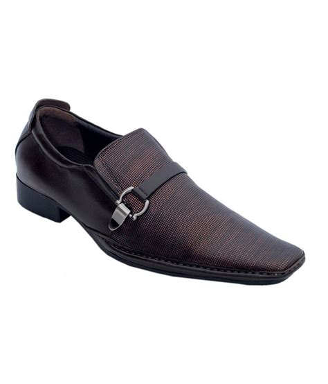 aura brown leather office wear formal shoes price in india